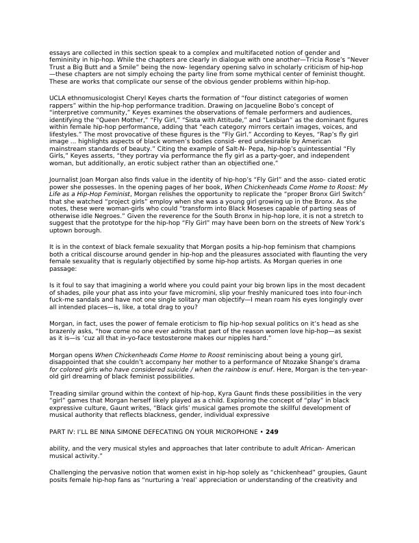 Document on Sexist and Misogynistic