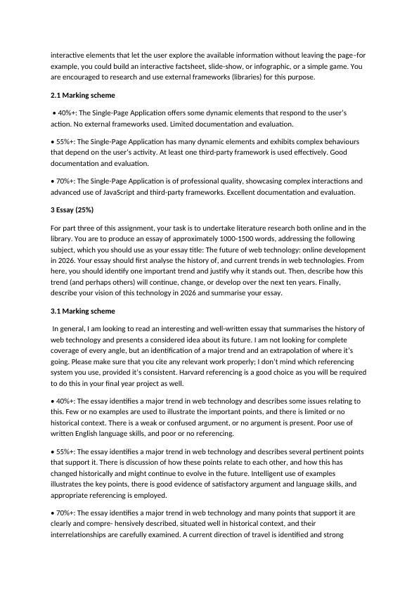 CSC-20021 Web Technologies | Assignment
