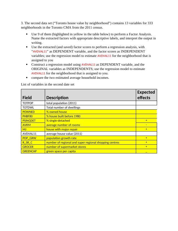 GEO 561 Multivariate Analytical TechniquesAssignment