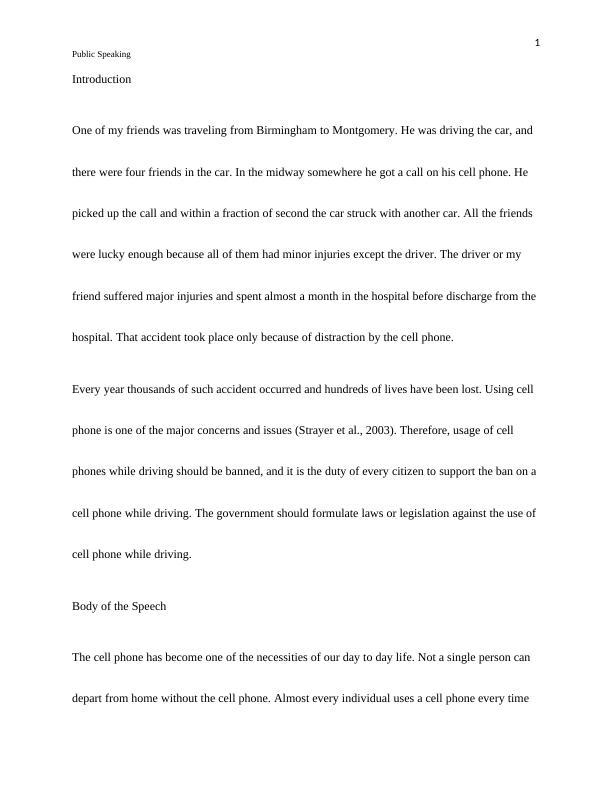 Public Speaking- Document