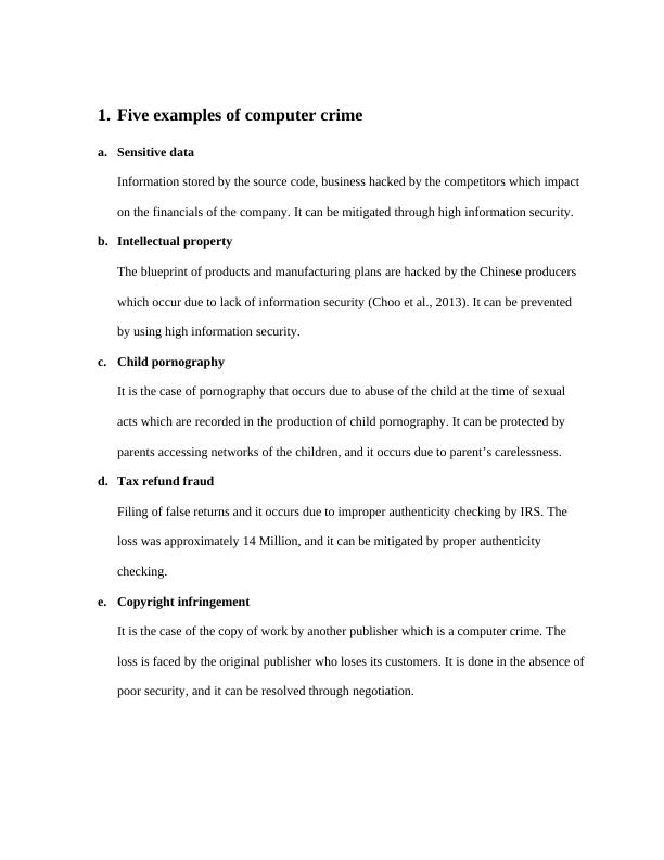 Document on Examples of Cyber Crime