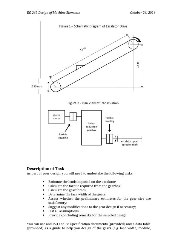 Design of Machine Elements: Project
