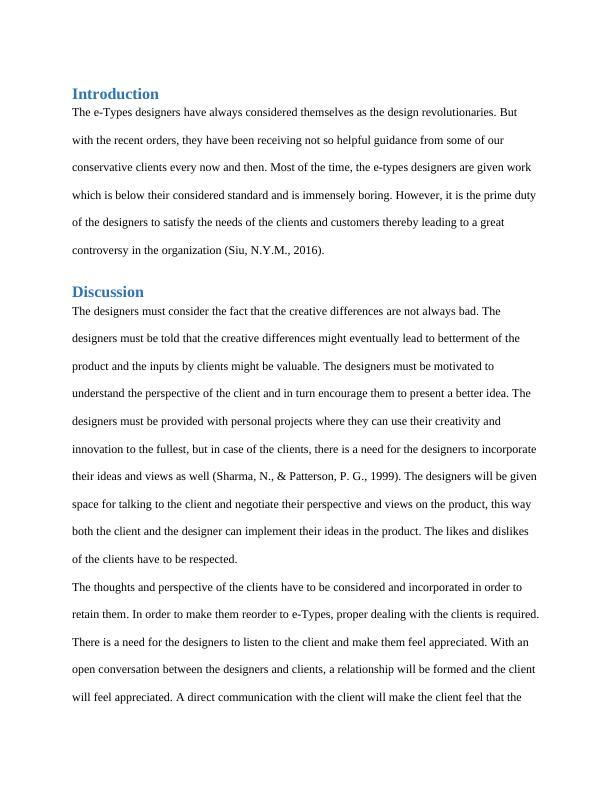 Case Study: E-Types Designer