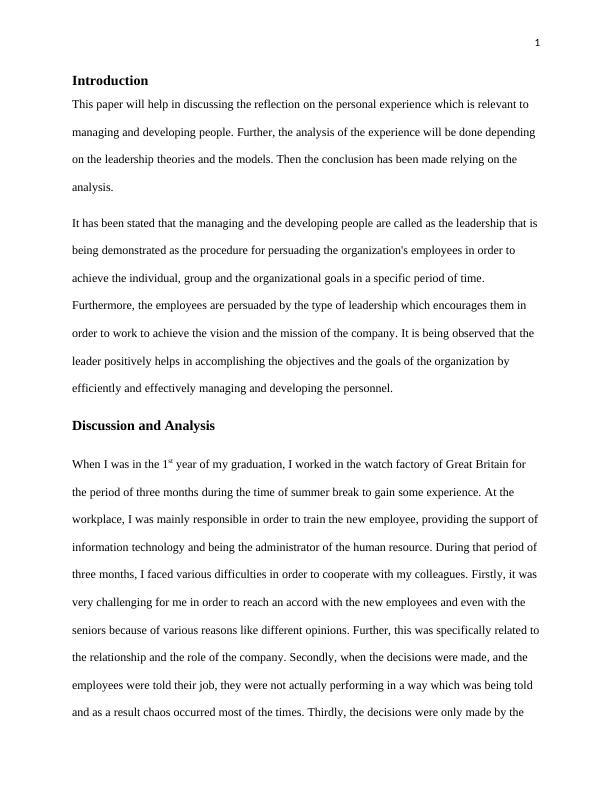 2. reflective writing.