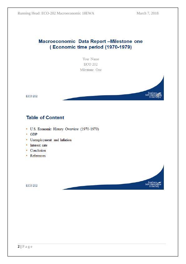 ECO202 Macroeconomics Assignment