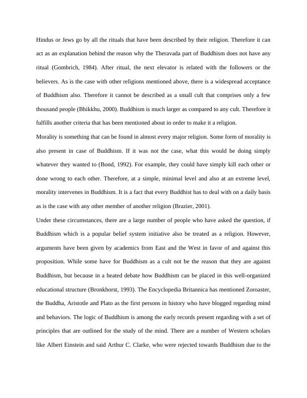 Buddhism a religion- Philosophy