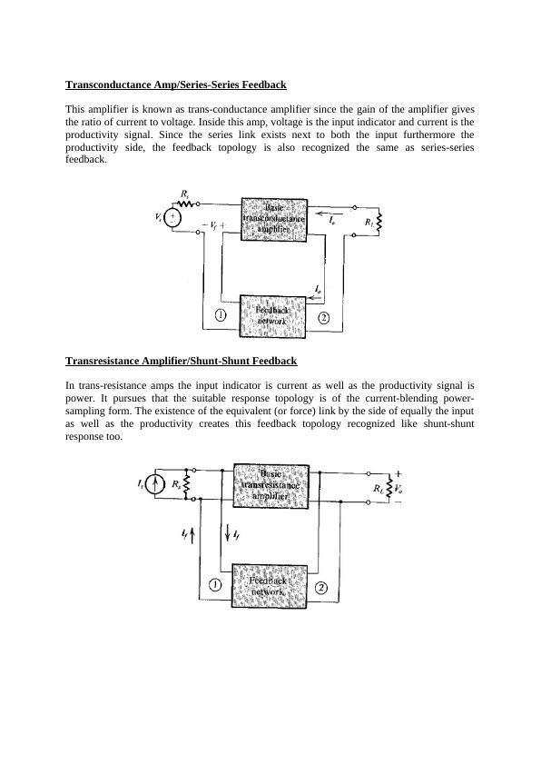 Assignment. Voltage Amplifier/Series-shunt Feedback. Se
