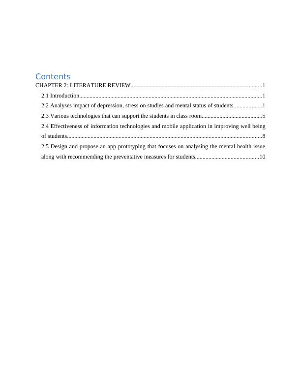 Project Report on Health and Wellbeing