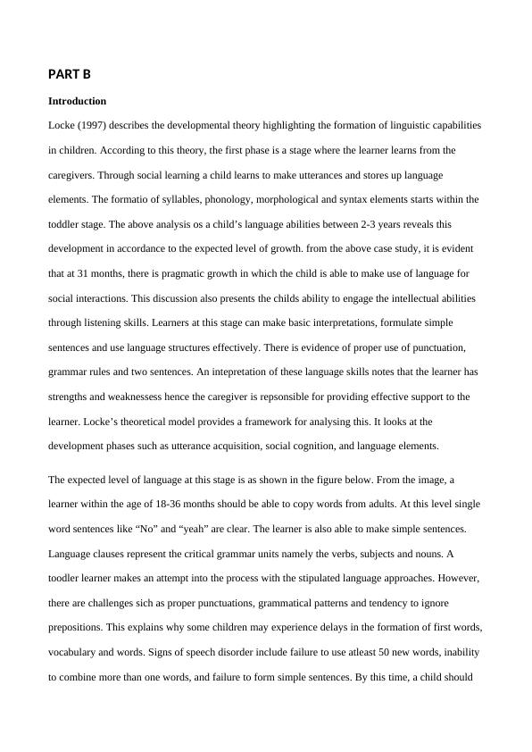 Case Study Language Development