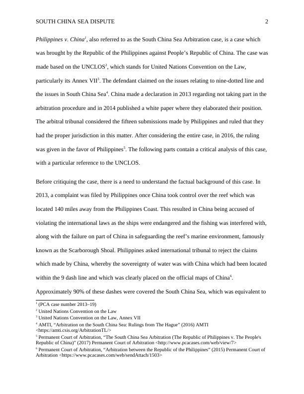 Public International Law Essay