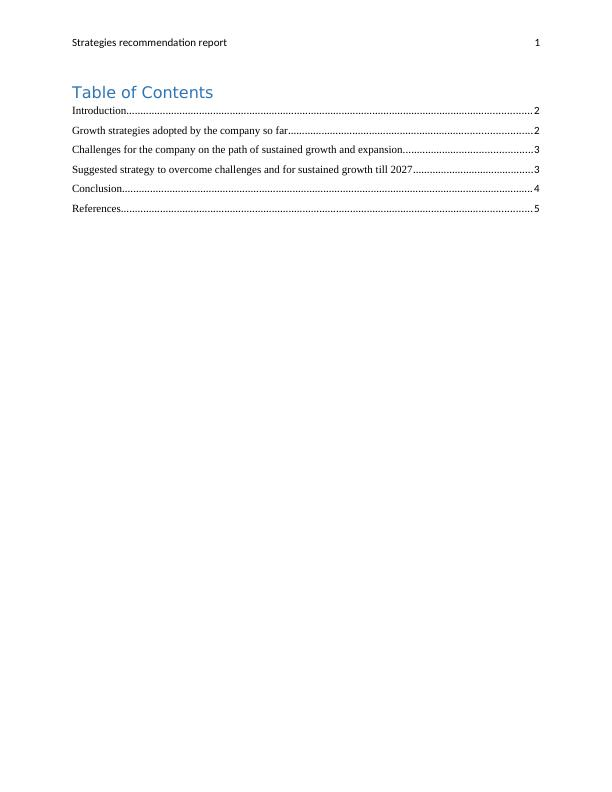 Strategies Recommendation Report- Alibaba