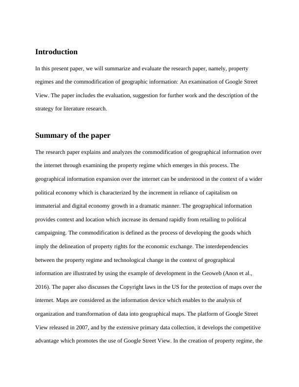 Paper summary and critique.