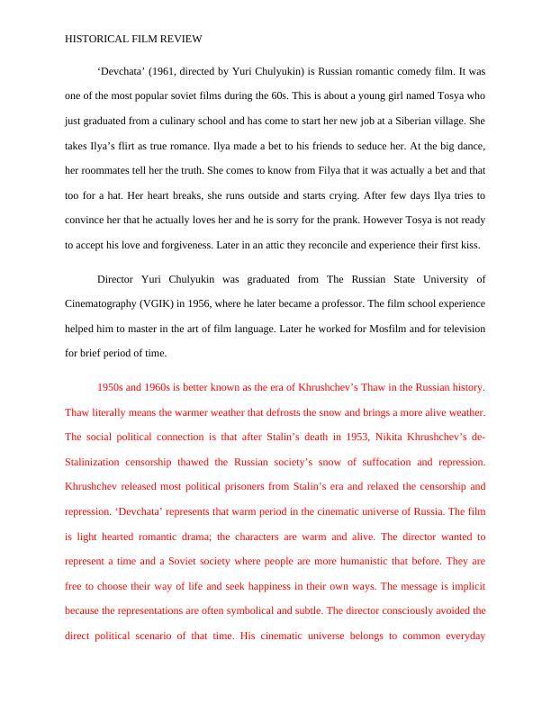 HIST 419: Topics in Soviet History