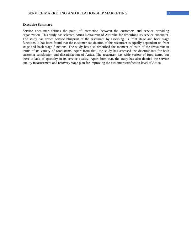 HC2112 Services Marketing & Relationship Marketing