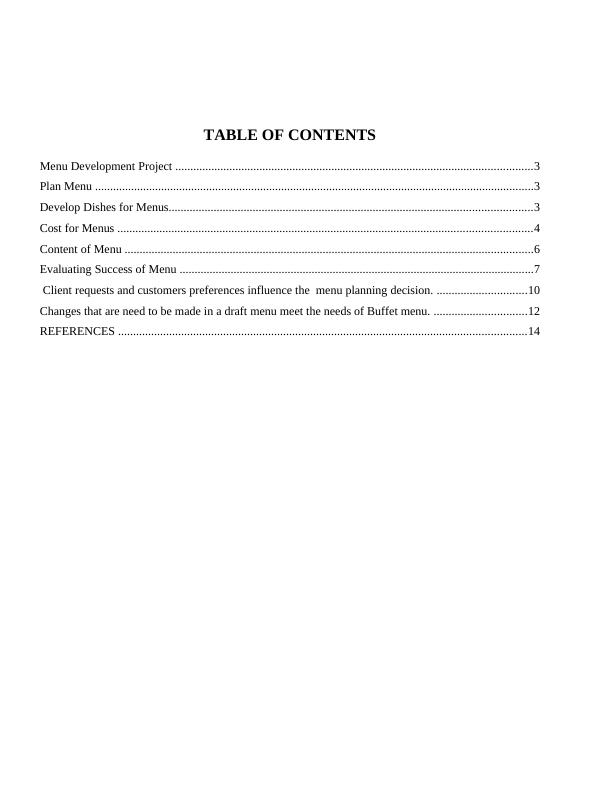 Plan and Cost Basic Menu : Report