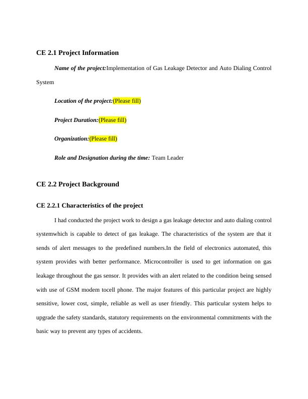 Implement of Gas Leakage Detector and Auto Dialing Control System | Project
