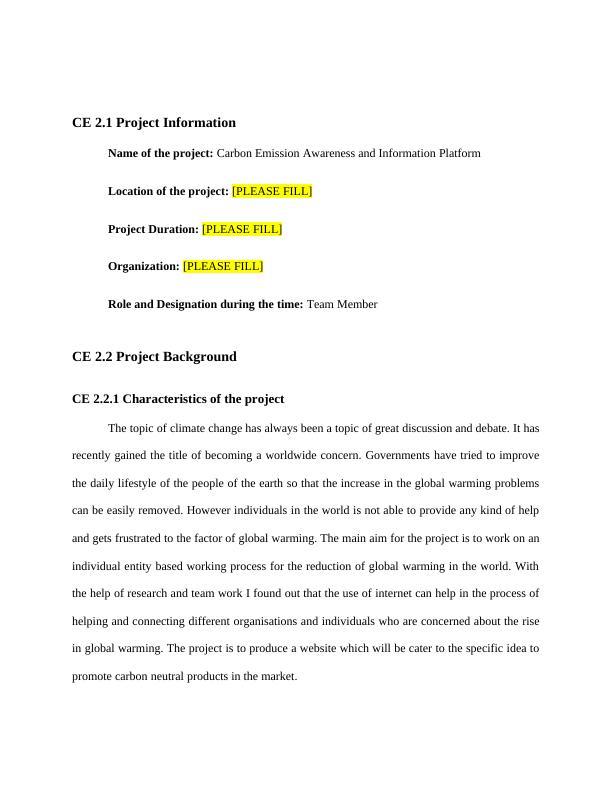 Carbon Emission Awareness and Information (Doc)