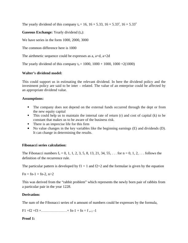 Assignment on Dividend Calculation
