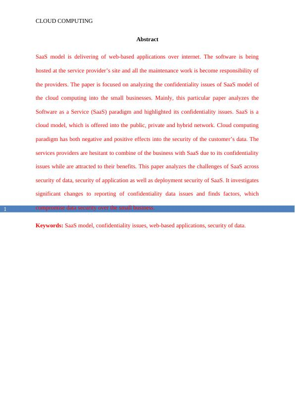 Report on Concept of Cloud Computing