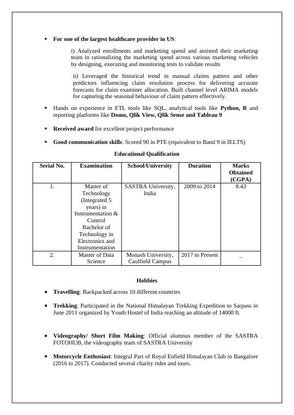 Assignment Career  Resume Writing
