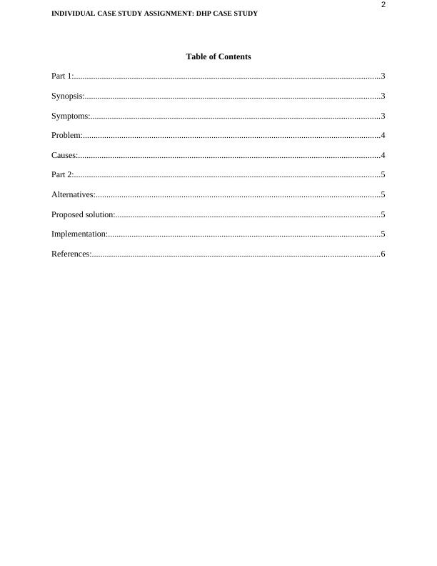 Case Study on Promotional Ideas | D.H.P. Stores Inc