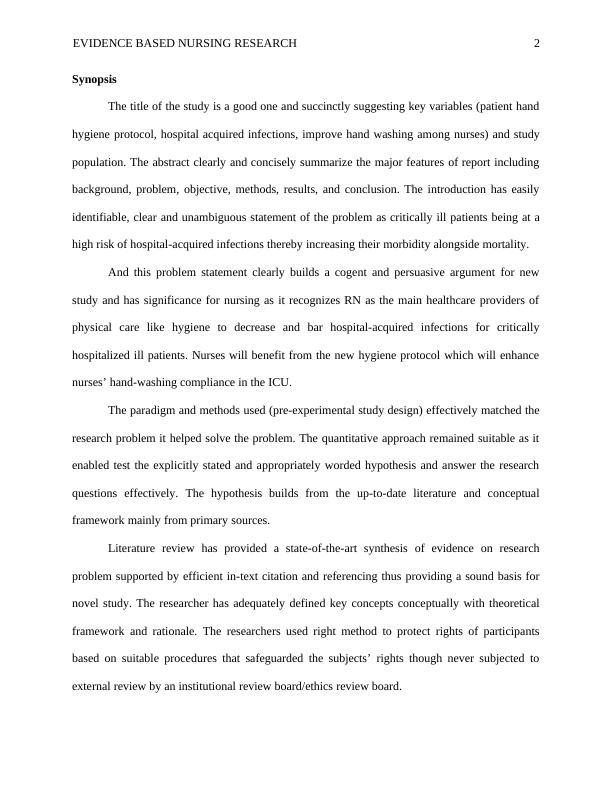 Evidence Based Nursing PDF