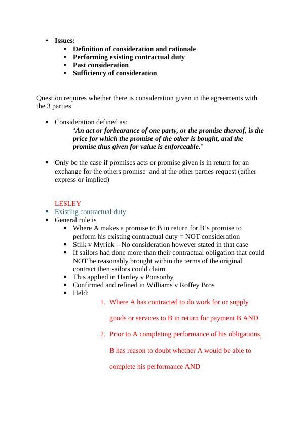 Consideration Shanessa Assignment
