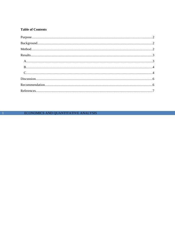 Economics and Quantitative Analysis of Wage and Education