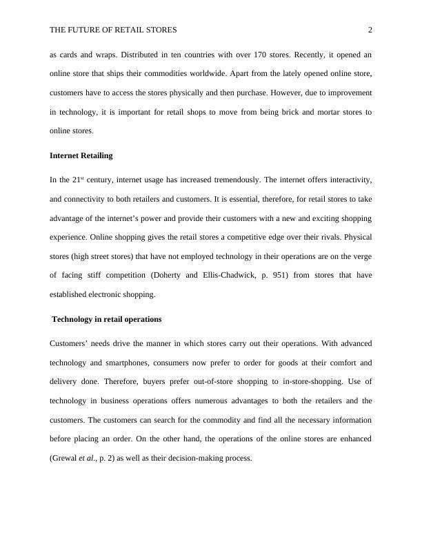 Paper on Typo Retail Store