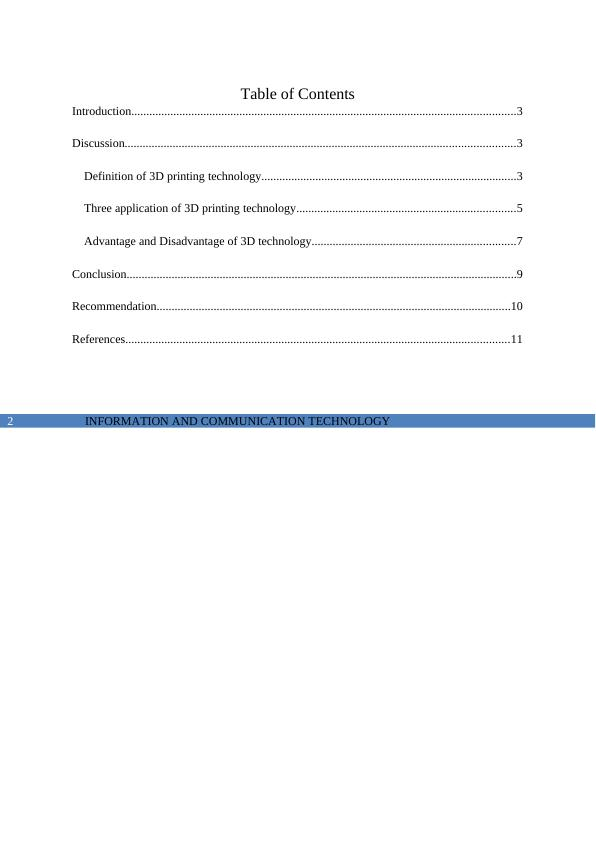 Information and Communication Technology  -  Assignment