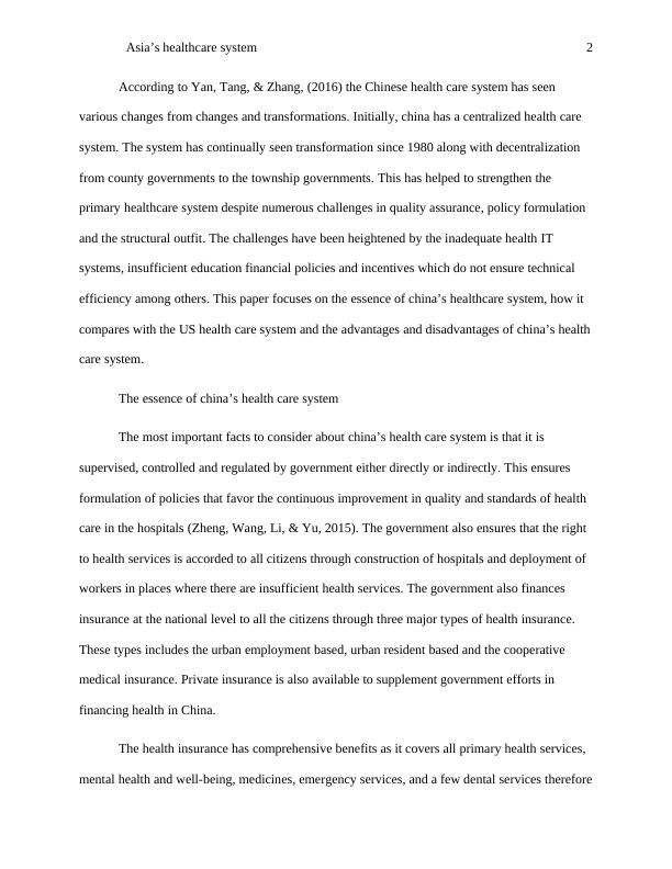 Asia's Healthcare System - PDF