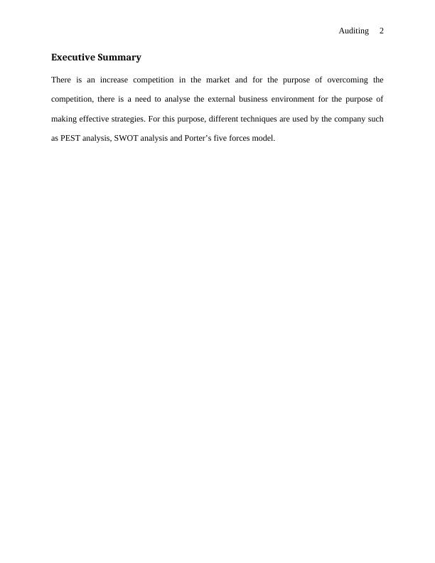HA3032 Auditing Assignment