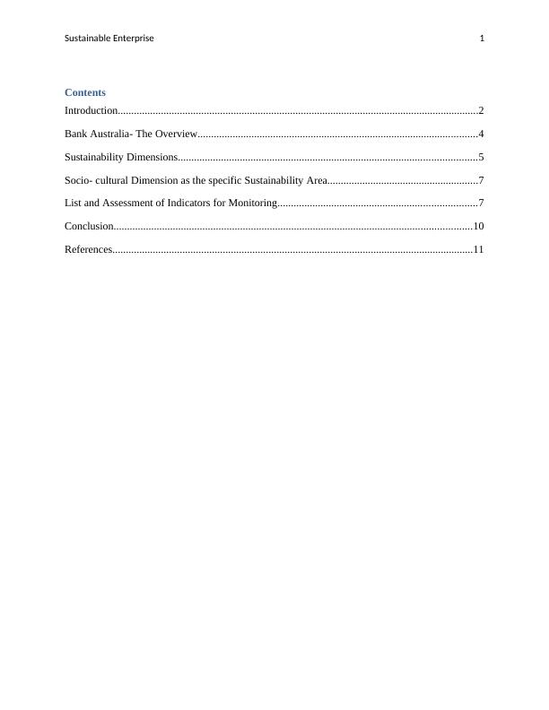 Sustainable Enterprise  Assignment PDF