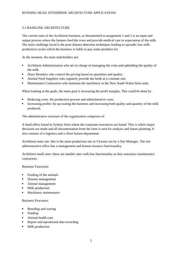Enterprise Architecture Assignment (Doc)