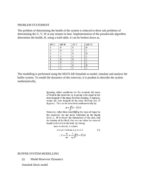 Dynamic System Modelling Assignment