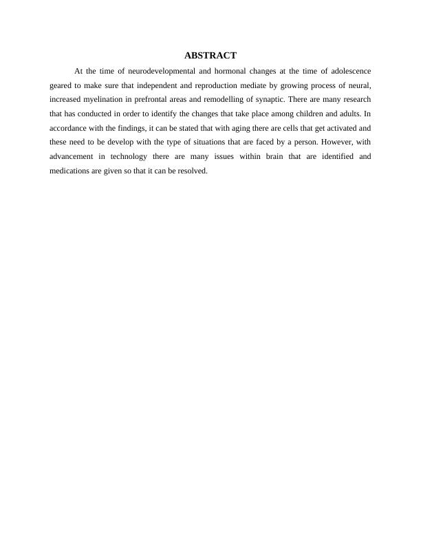 (solved) Psychology Assignment