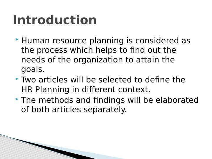 Human Resource Planning : PDF