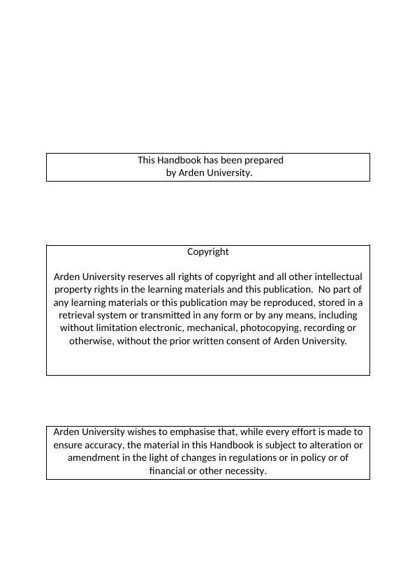 Student Handbook For Online Students