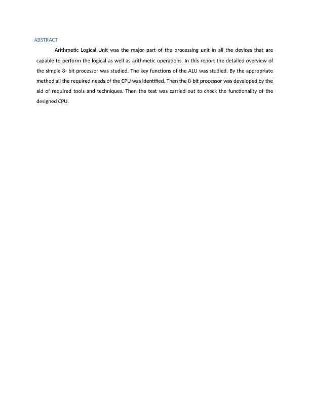 Computer Organisation and Design - Doc