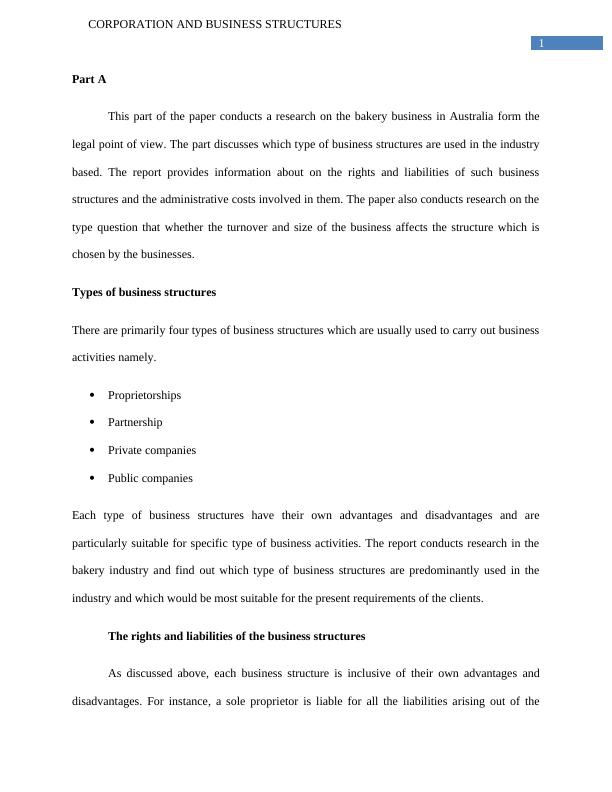 Corporations and Business Structures LAWS20059