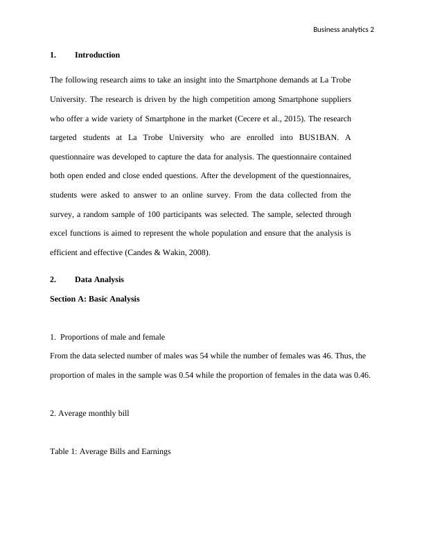 BUS1BAN Business Analytics Report
