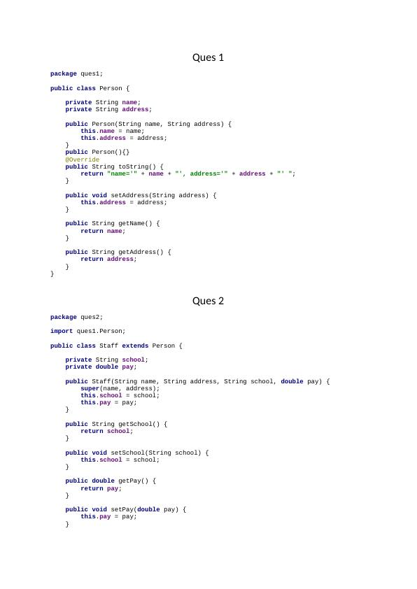 Overriding toString() in Java Assignment