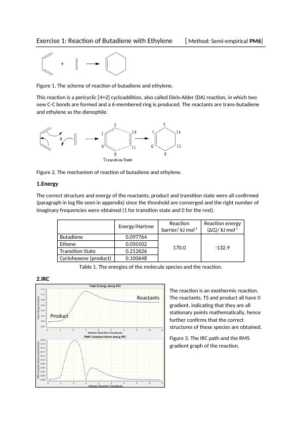 Investigation of the Transition States of Diels-Alder Reactions (Doc)