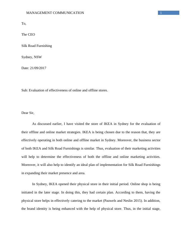 Assignment Management Communication