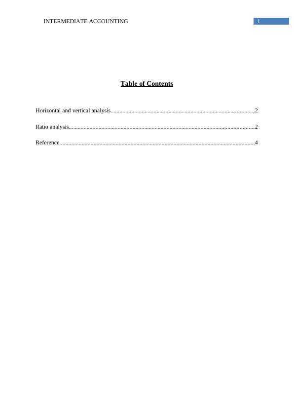 Assignment Intermediate Accounting