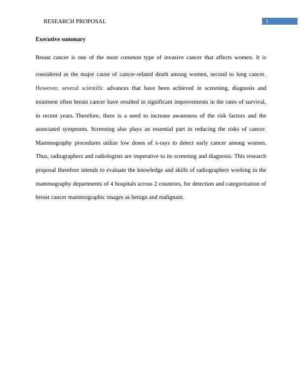 Research Proposal on Skills of Radiographers