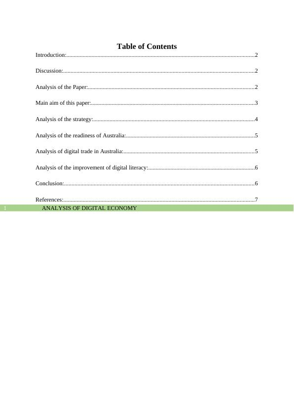 Digital Economy Assignment (Doc)