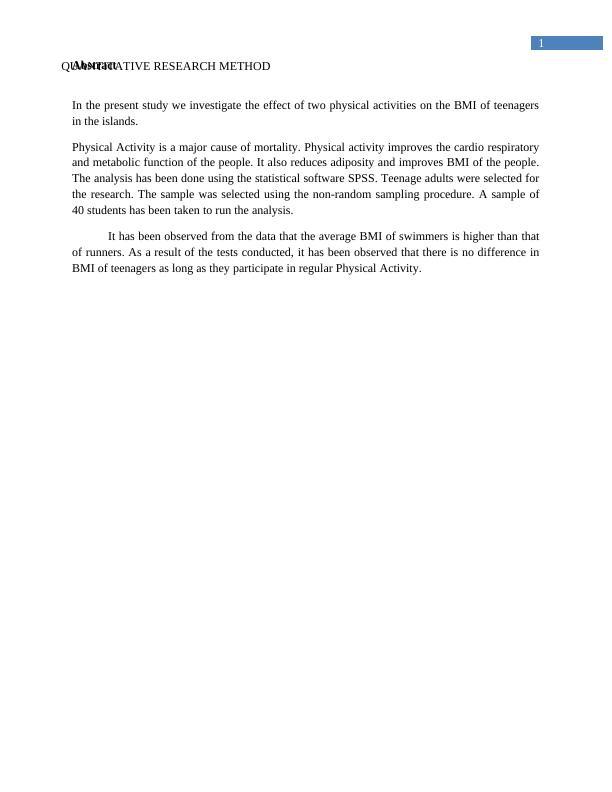 PUB708 Quantitative Research Methods