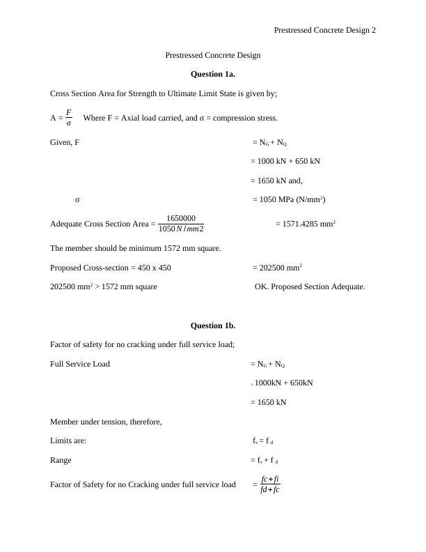 Prestressed Concrete Design - PDF