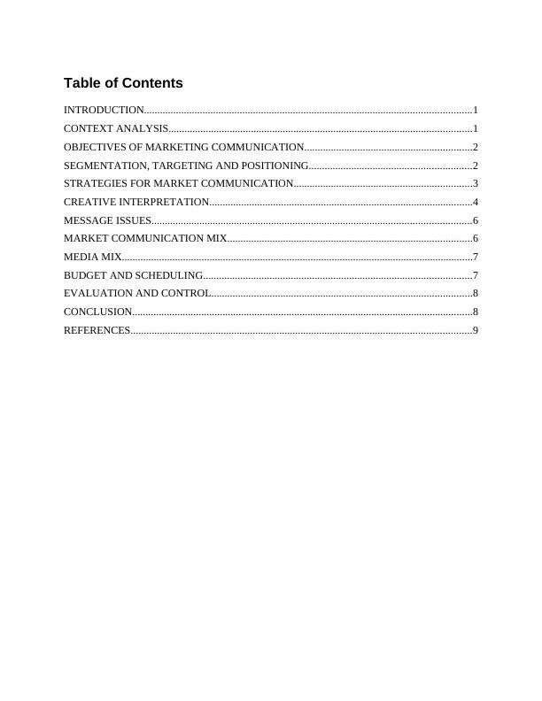 Market Communication Assignment - X Refreshments group PLC